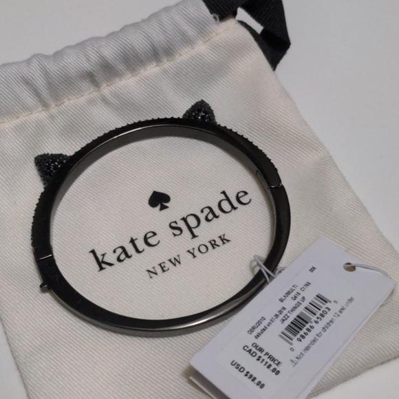 BNWT Kate Spade Pave Cat Ear Bangle